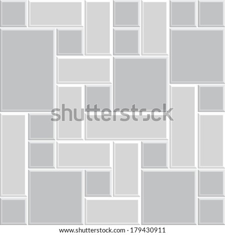 beautiful gray pattern tile floor, modern style design of wall, interior, decoration, 3d vector - stock vector