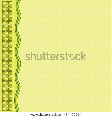 Beautiful green vector background with stripes and squares