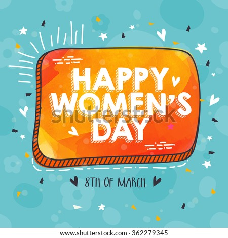 Beautiful greeting card design for Happy International Women's Day celebration. - stock vector
