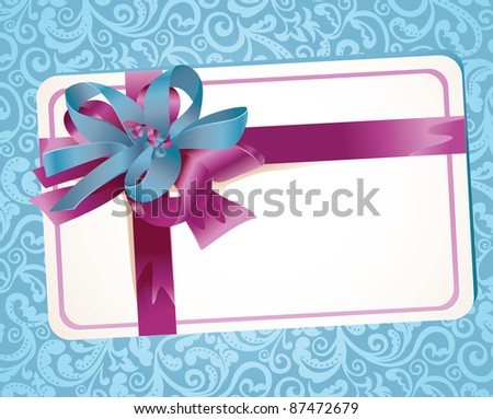 beautiful greeting card with ribbons - vector illustration - stock vector