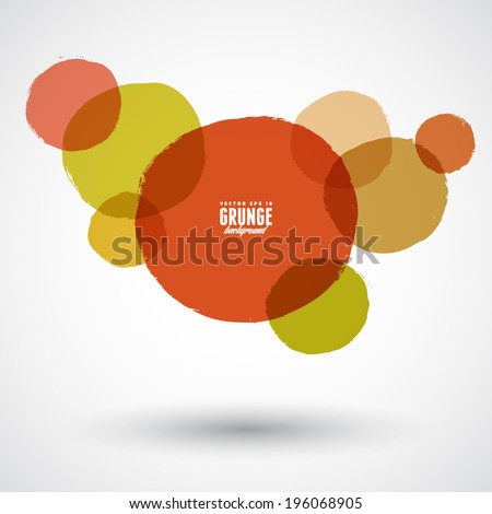 Beautiful grunge design elements. Vector illustration - stock vector