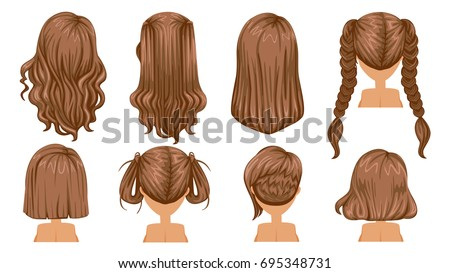 Process Hair Loss Cartoon Vector Illustration Stock Vector