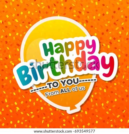 Beautiful Happy Birthday Greeting Card Eps 10 Stock Vector 693549577