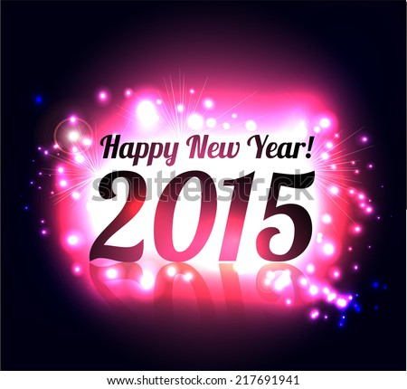 Beautiful Happy New Year 2015 colorful celebration background vector  - stock vector