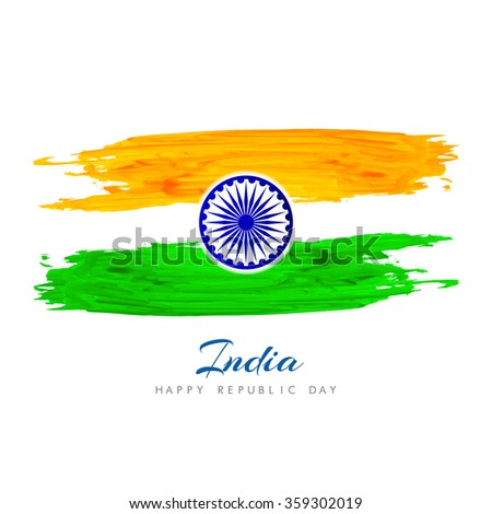 Beautiful Indian flag background design - stock vector