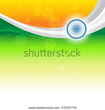 beautiful indian flag background with space for your text - stock vector
