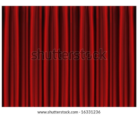Beautiful Indoor Theater Stage Background Vector