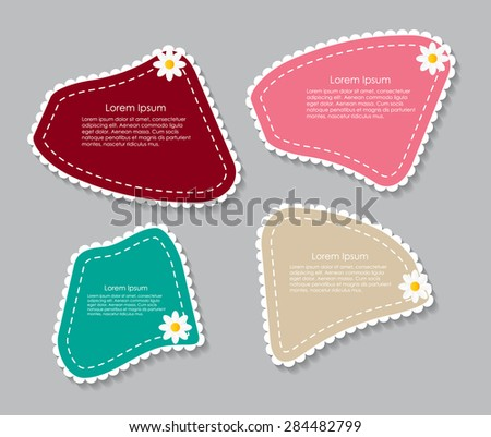 Beautiful Labels with Flower Vector Illustration - stock vector