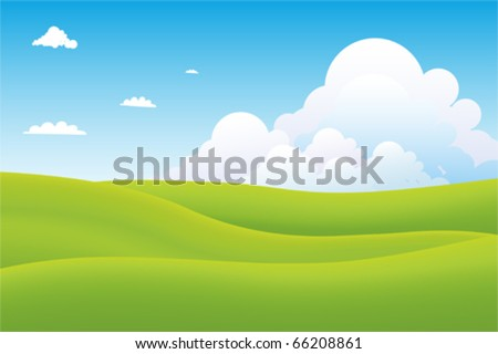 Beautiful landscape background Vector - stock vector