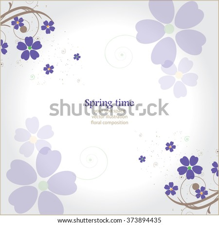 beautiful lilac floral composition - stock vector