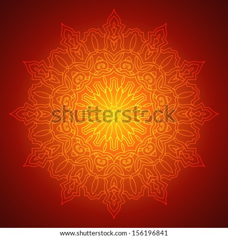 Beautiful Mandala Background (EPS10 Vector) - stock vector