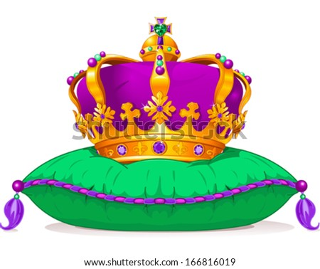 Beautiful Mardi Gras crown  - stock vector