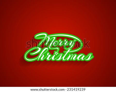 Beautiful Merry Christmas vector card design. - stock vector