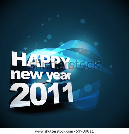 beautiful new year vector design