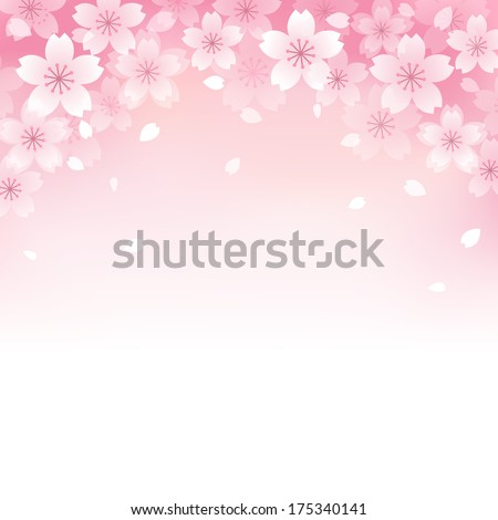 Beautiful Pink Cherry blossom background. File contains Transparency, Gradients, Gradient Mesh. - stock vector