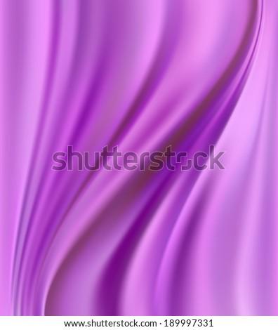 Beautiful Pink Satin. Drapery Vector Background  - stock vector