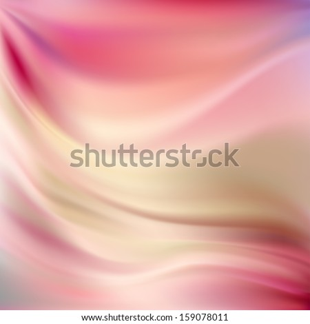 Beautiful Pink Silk. Drapery Textile Background, Mesh Vector Illustration - stock vector
