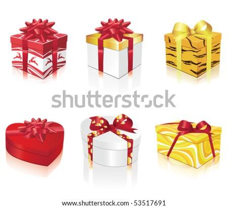 Beautiful presents - stock vector