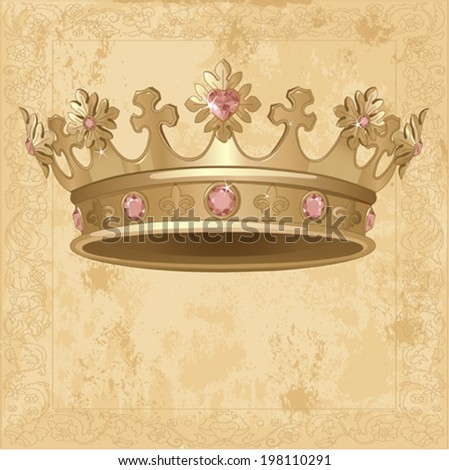 Beautiful Royal crown background - stock vector
