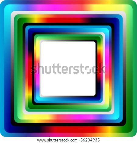 beautiful screen for your message - stock vector