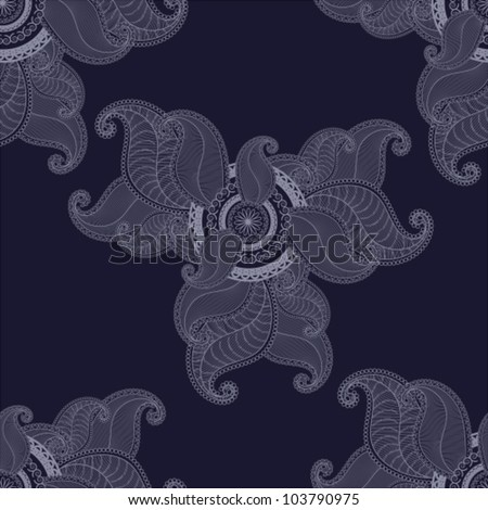 Beautiful  seamless background with swirls and abstract elements. - stock vector