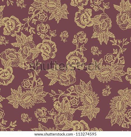 Beautiful Seamless flowers pattern  romantic floral wallpaper