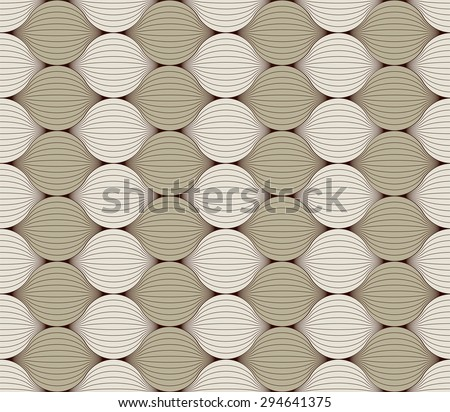 Beautiful seamless pattern with intertwining of strands. Vector abstract background. Can be used for wallpaper, pattern fills, web page background, surface textures. Easy editable vector. - stock vector