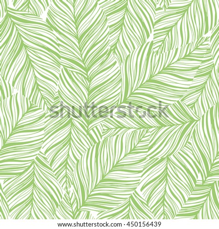 Beautiful seamless pattern with leaf texture