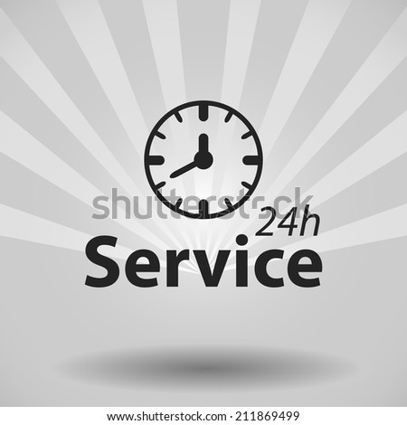 Beautiful Service 24 h web icon
