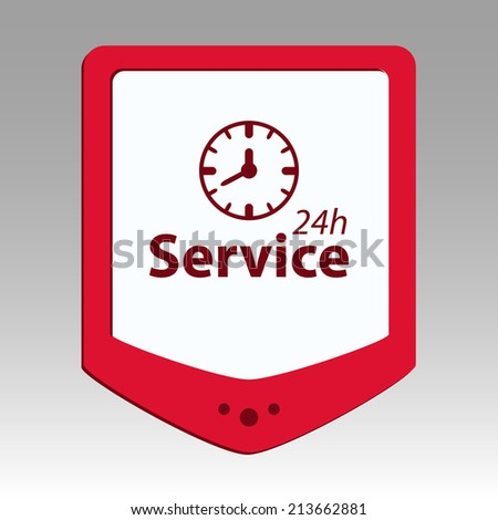 Beautiful Service Work Hours web icon
