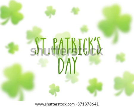 Beautiful shamrock leaves decorated greeting card design for Happy St. Patrick's Day celebration. - stock vector