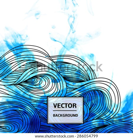 Beautiful shape of ink. Vector illustration. We can use this as a backdrop, brochures, business cards, pattern fills, design of your website.