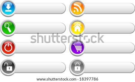 Beautiful shiny buttons. Vector illustration. - stock vector