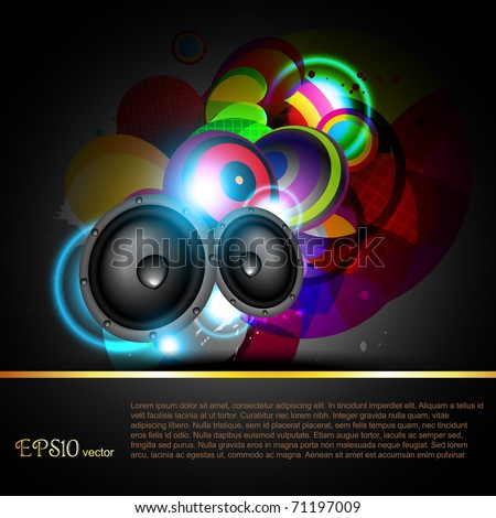 beautiful shiny vector music background