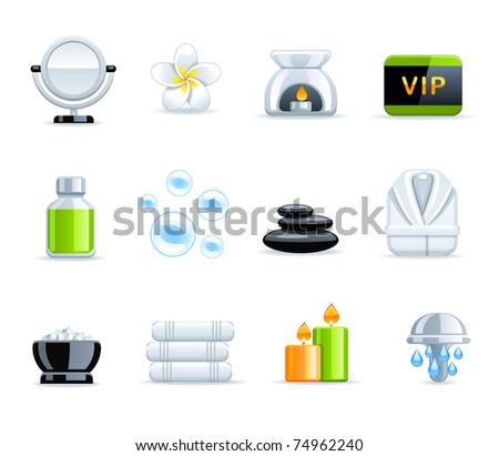 Beautiful Spa collection - stock vector