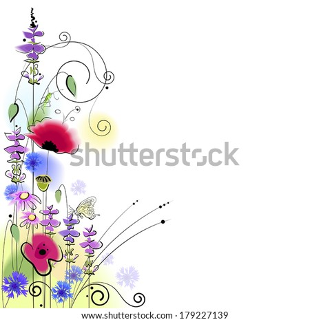 beautiful spring floral background - stock vector