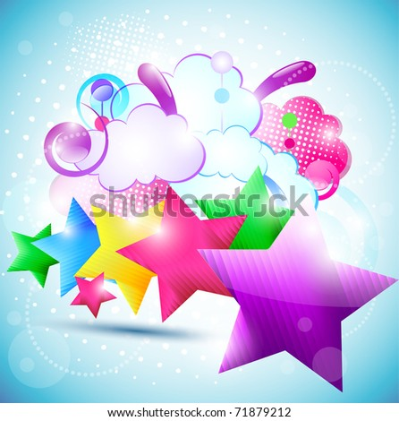 Beautiful star background. EPS10 - stock vector