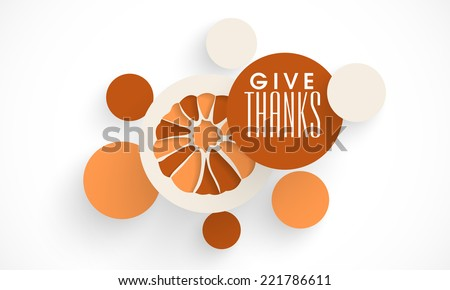 Beautiful sticky set with pumpkin and wishes on the occasion of Thanksgiving Day festival.  - stock vector