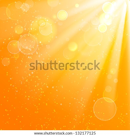 Beautiful summer background. Vector illustration, contains transparencies, gradients and effects. - stock vector
