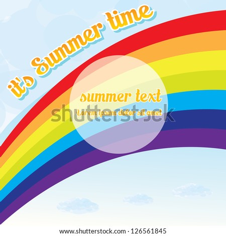 beautiful summer illustrations  . summer party vector flyer. summer holiday vector background.