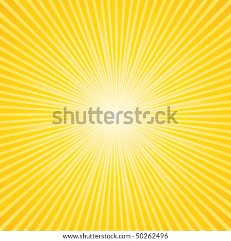 Beautiful summer sunburst. Vector background. - stock vector
