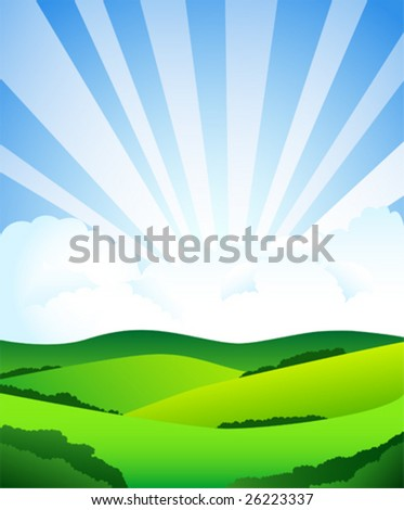 Beautiful sun day. To see similar, please visit my gallery. - stock vector