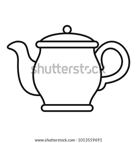 Beautiful teapot icon. Outline illustration of beautiful teapot vector icon for web