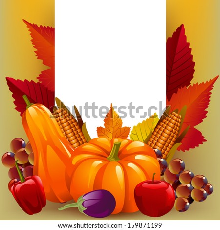 Beautiful Thanksgiving and Autumn Background