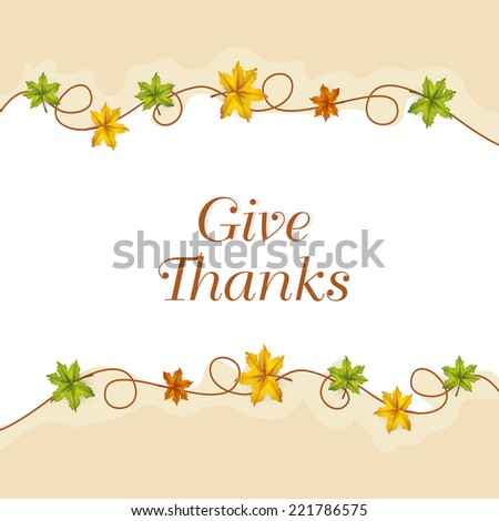 Beautiful Thanksgiving Day celebrations greeting card design with stylish text  - stock vector