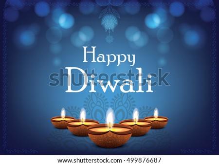 Beautiful traditional diwali festive greeting vector stock photo beautiful traditional diwali festive greeting vector illustration for indian festival of lights happy diwali m4hsunfo
