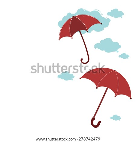 beautiful umbrellas. background with umbrellas place to place text - stock vector