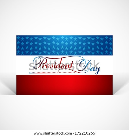 Beautiful united states flag Presidents day background vector - stock vector