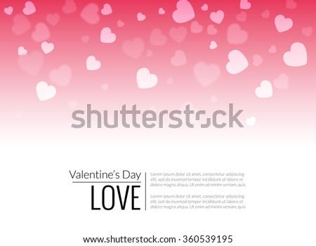 Beautiful valentine hearts vector background - stock vector