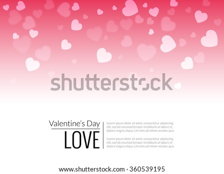 Beautiful valentine hearts vector background. Vector holiday wallpaper decoration